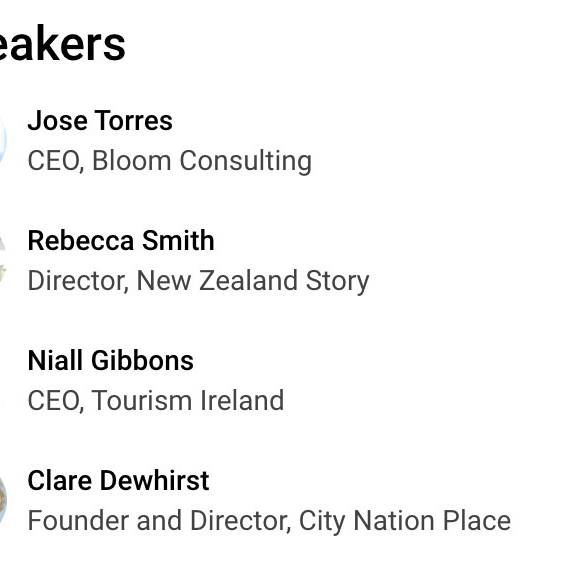 D2 - Analytics and City Nation Place Free webinar for destinations. Speakers.