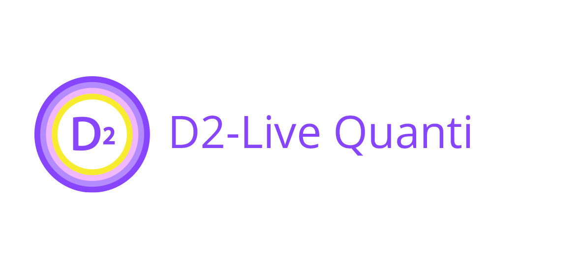 D2 - Analytics company product D2 - Live Quanty software logo